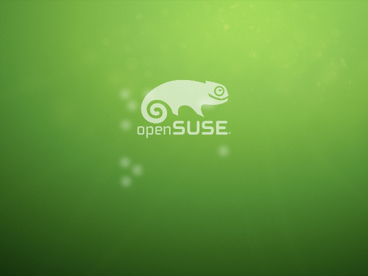 openSUSE splash screen
