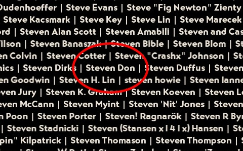 Yay! My name is in the credits!
