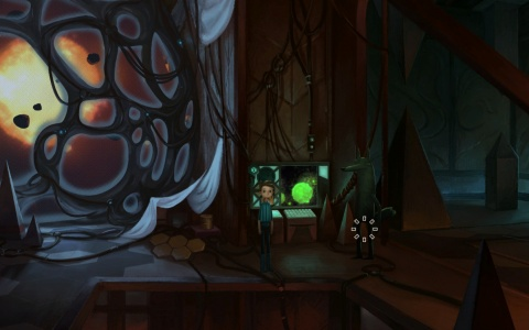 Gameplay scene from Broken Age: Marek's Lair