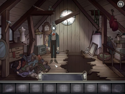 Gameplay scene from Projector Face: The Attic