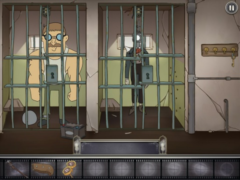 Gameplay scene from Projector Face: Stuck in prison