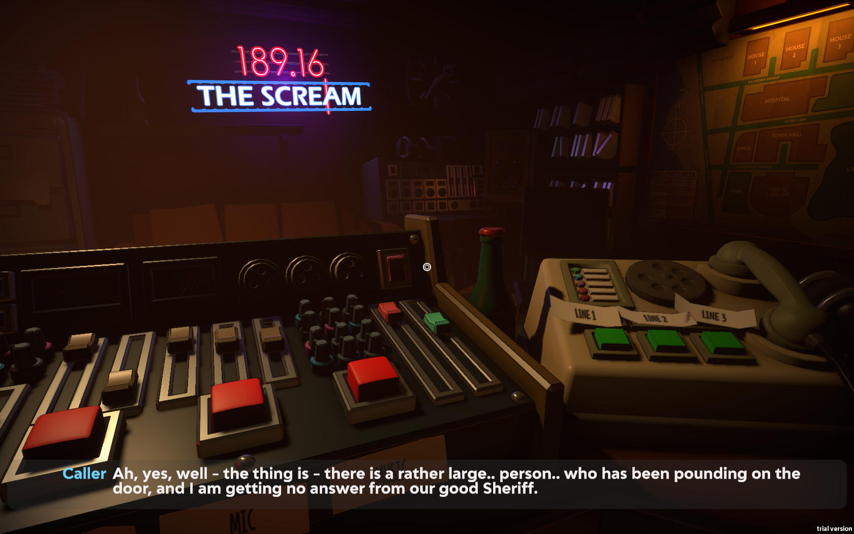 Screenshot with the view of the radio studio control panel