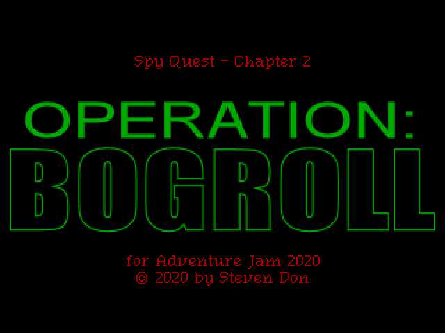 Title screen for Spy Quest 2 - Operation: BOGROLL