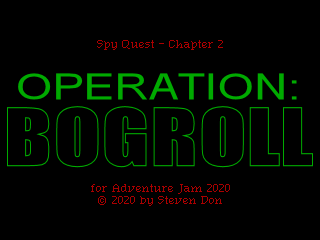 Operation: BOGROLL title screen